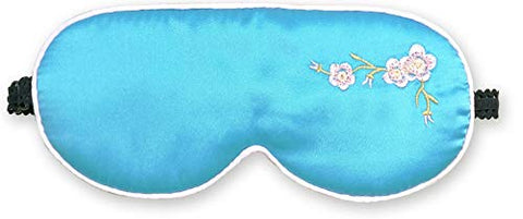 Embroidered Natural Silk Sleep Mask & Blindfold Super-Smooth Eye Mask Eye Cover#543