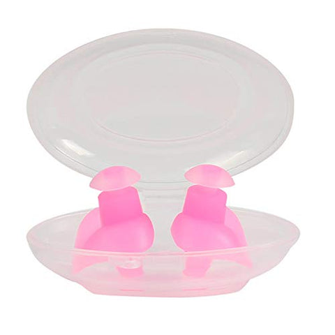 Silicone Ear Plugs Noise Cancelling Reusable for Sleeping Swimming, Waterproof Earplug Hearing Protection Sound Blocking Decible Reduction, 2 Pairs,Pink