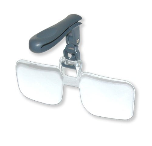 Carson Optical VisorMag 2x Power (+4.00 Diopters) Clip-On Magnifying Lens for Hats VM-12