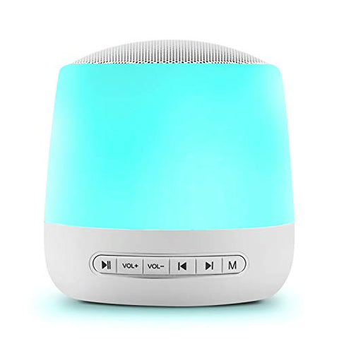 White Noise Machine, Sleep Sound Machine for Baby Kid Adult with 28 Non-Looping Soothing Sounds Night Light USB Rechargeable Timer & Memory Feature Noise Machine for Sleeping Use in Home Office Travel