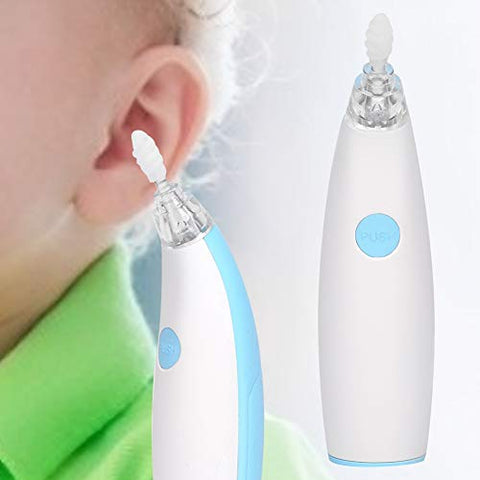 Ear Cleaner, Light-emitting Electric Earwax Cleaner Ear Wax Remover Safe Earpick Tool for Children Safe LED Ear Pick Cleaner Soft Earwax Removal Kit Upgraded Ear Wax Removal Tool for Adults & Kids