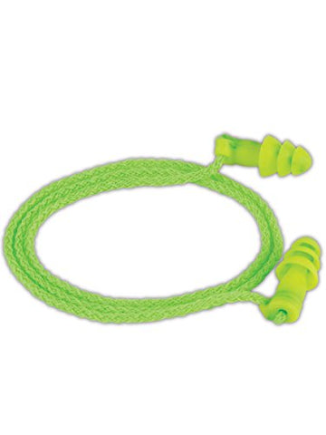 Moldex M6455 Jetze Reusable Earplugs, Hi-Viz Green (50 per Dispenser)