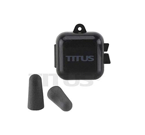 TITUS 32dB NRR Individually-Wrapped Pairs of Memory Foam Earplugs Multi-Pack (Standard W/ Case 100pc)