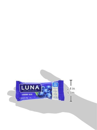 LUNA BAR - Gluten Free Bars - Blueberry Bliss Flavor - (1.69 Ounce Snack Bars, 15 Count)