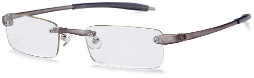 Visualites 1 Reading Glasses,Smoke Frame/Clear Lens,1.50 Strength
