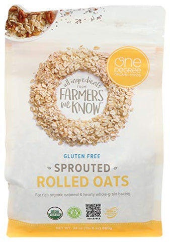 ONE DEGREE ORGANIC FOODS Organic Sprouted Rolled Oats, 24 OZ