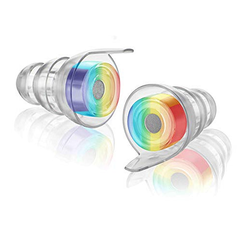 Eargasm High Fidelity Earplugs (Earplugs Only) (Rainbow, Standard)