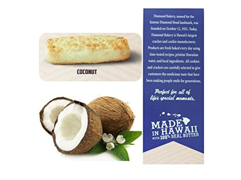 Diamond Bakery Coconut Hawaiian Shortbread Cookies, 4.4 ounce