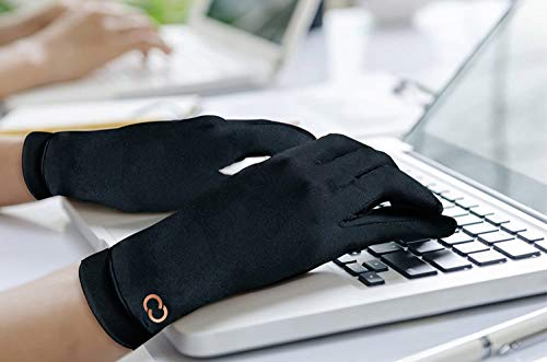 Copper Compression Full Finger Arthritis Gloves. Highest Copper Content Guaranteed. Copper Provides Added Protection. Best Copper Infused Glove for Carpal Tunnel, Typing, Fit for Men & Women (Large)