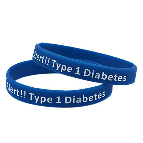 Type 1 Diabetes Diabetic Bracelet Insulin Dependent Medical Alert (Blue)