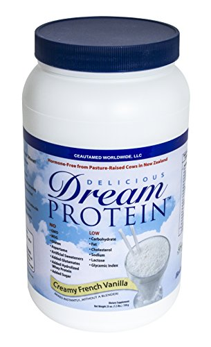 Dream Protein Whey Protein Powder, Creamy French Vanilla, 720 Gram