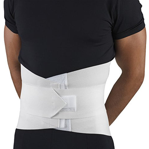 OTC Abdominal Uplift Back Strong Compression Elastic Lumbo-Sacral Support, White, Universal