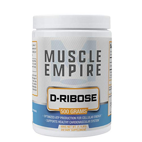 D-Ribose Bioenergy Ribose Powder - Supports Cardiovascular Health & Improved Energy Recovery - 500 Grams - Muscle Empire
