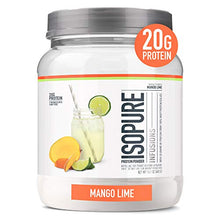 Isopure Refreshingly Light Fruit Flavored Whey Protein Isolate Powder, Shake Vigorously & Infuses in a Minute, Mango Lime, 16 Servings