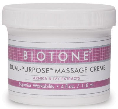 Biotone Dual Purpose Massage Creme, 4 Ounce