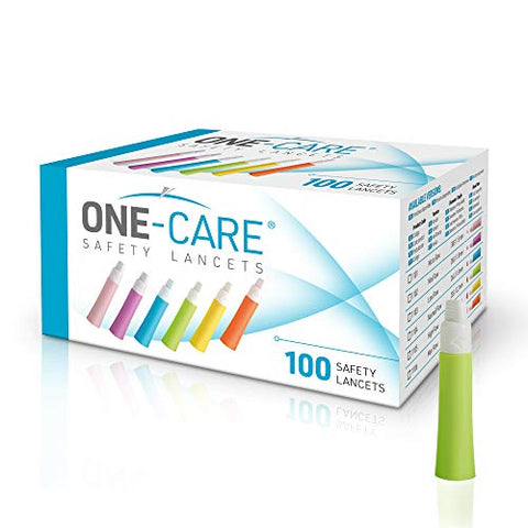 MediVena ONE-Care Safety Lancets, Contact-Activated, 23G x 2.2mm, 100ct