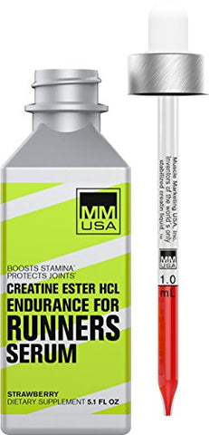 Runners Creatine Serum | Higher Speed, Longer Run, Cellular Energy, Faster Recovery. Easily Absorbed. Does Not Cause Water Gain. with Creatine HCL + L-Glutamine + L-Carnitine & Guarana Extract