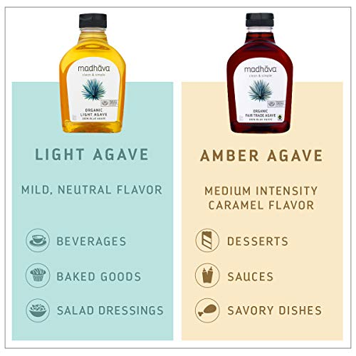 MADHAVA Organic Amber Agave, 46 oz. Bottle (Pack of 2) | 100% Pure Organic Blue Agave Nectar | Natural Sweetener, Sugar Alternative | Vegan | Organic | Non GMO | Liquid Sweetener