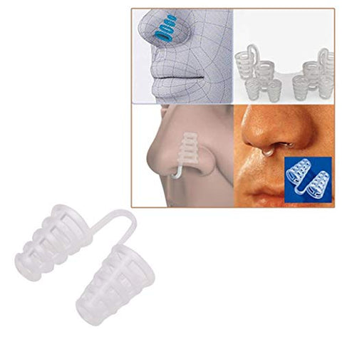 Amawou Anti-snoring 2PCS Anti-snoring Breathing Easy Sleep Assist Nose Dilator Device Nose Clip