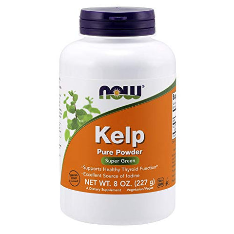 NOW Supplements, Kelp Powder, Certified Organic, Excellent Source of Iodine, Super Green, 8-Ounce