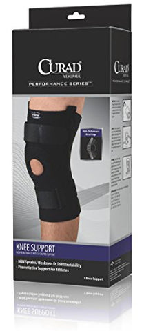 Medline ORT23220MD Curad Neoprene Knee Support Hinged with U-Shaped Support, Medium (Pack of 4)