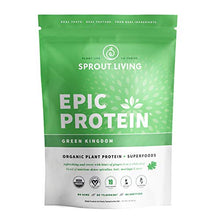 Epic Protein, Organic Plant Protein + Superfoods, Green Kingdom | 19 Grams Vegan Protein, Gluten Free, No Gums, No Flavoring (1 Pound, 13 Servings)
