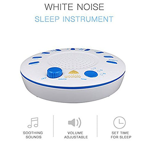 Woolala White Noise Machine 9 Nature Sounds Therapy Relaxation Sound Machine with Timer for Sleep and Sound Masking