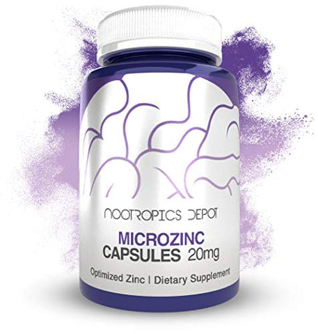 MicroZinc Capsules | 20mg | Optimized Zinc Supplement | 90 Count