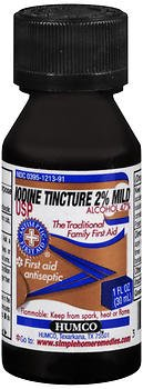 Humco Iodine Tincture Mild 2% Mild USP - 1 oz, Pack of 5