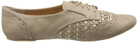 Not Rated Women's More Fun Oxford,Taupe,9.5 M US