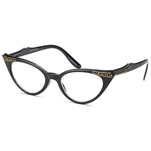 Gamma Ray Women's Reading Glasses - 3 Pairs Cat Eye Ladies Fashion Readers 1.50