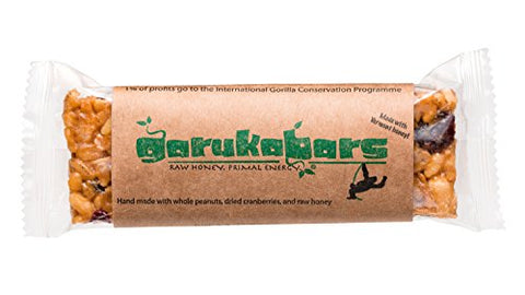 Garuka Bars Energy Bar - Handmade with Raw Honey - 100% Recyclable Packaging - 20 Pack