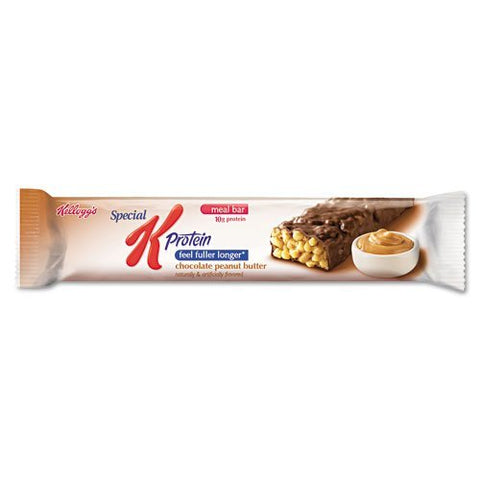 Kelloggs : Special K Protein Meal Bar, Chocolate/Peanut Butter, 1.59 oz, 8/Box -:- Sold as 2 Packs of - 8 - / - Total of 16 Each