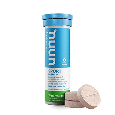 Nuun Active: Watermelon Electrolyte Enhanced Drink Tablets (2 Tubes of 10 Tabs)