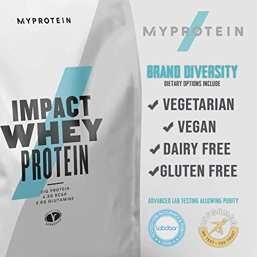 Myprotein Impact Whey Isolate Protein Powder, Chocolate Brownie, 2.2 Lb (40 Servings)