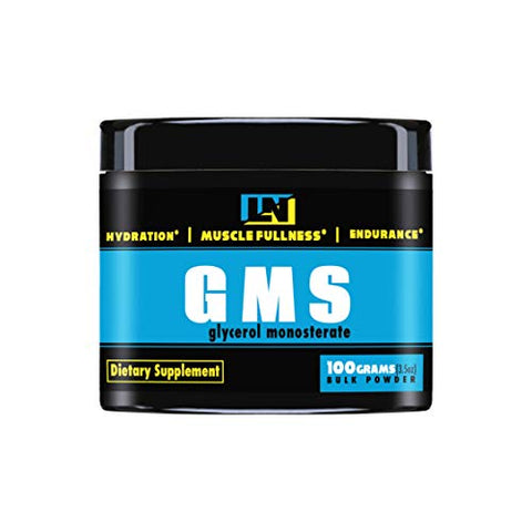 LiveLong Nutrition Glycerol Monostearate GMS Powder - Hydration, Endurance, Muscle Pump for Pre Workout. Multi use Powder for Homemade Ice Cream, and Powder for pre Workout, 3.5 Ounce