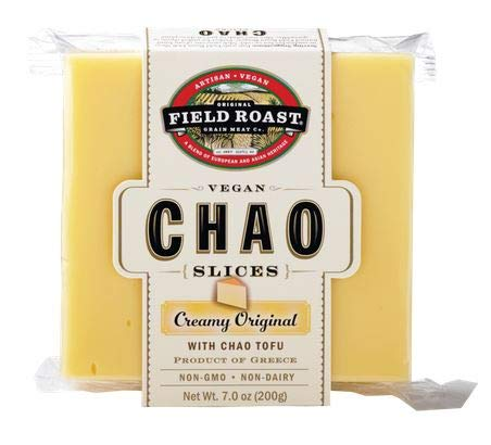 Field Roast Vegan Plant Based Dairy Free Chao Creamy Original Cheese Slices 2.2 pounds (Pack of 4)