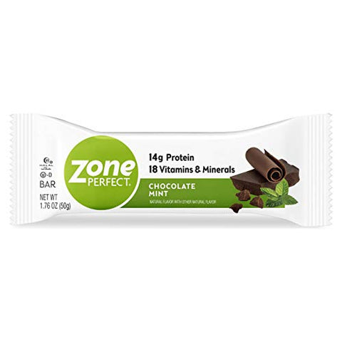ZonePerfect Protein Bars, Chocolate Mint, 14g of Protein, Nutrition Bars With Vitamins & Minerals, Great Taste Guaranteed, 36 Bars