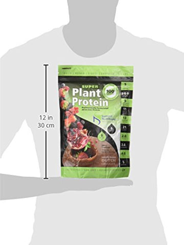 Organic Super Plant Protein: All In One Formula: 1.1lbs - Dutch Chocolate - 5 Enzymes: 21G Protein : Omega 3-6-9: 9 Anti-Oxidant Fruits: 13 Multi Vitamins and 11 Minerals:4g Fiber: 5 Billon Probiotics