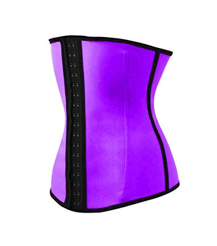 Max Compression Men's Neoprene and Spandex Workout Style Waist Cincher, Purple, X-Small