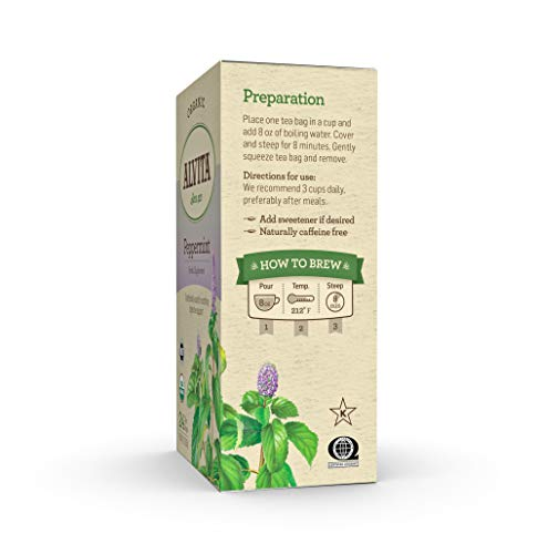 Alvita Organic Peppermint Herbal Tea - Made with Premium Quality Organic Peppermint Leaves, And A Delightful Zesty Flavor, 24 Tea Bags