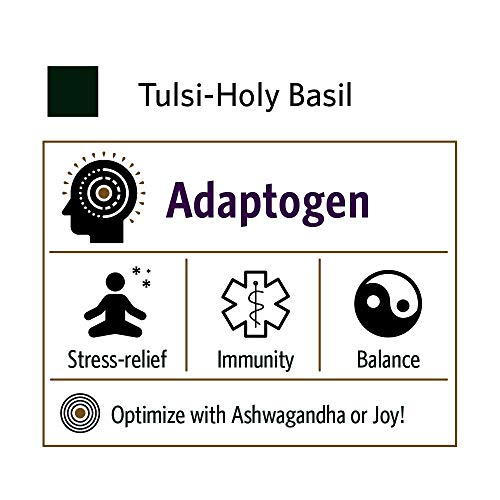 Organic India Tulsi Herbal Supplement - Holy Basil, Immune Support, Adaptogen, Supports Healthy Stress Response, Vegan, Gluten-Free, Kosher, USDA Certified Organic, Non-GMO - 90 Capsules