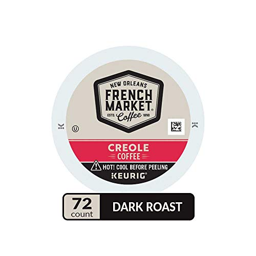 French Market Medium Dark Roast and Chicory Single Serve Cups Coffee, 12 Count (Pack of 6)