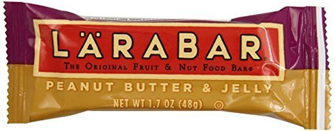 LARABAR Fruit & Nut Food Bar, Peanut Butter & Jelly, Gluten Free, 1.7 oz. Bars, (Pack of 16) by Larabar [Foods]
