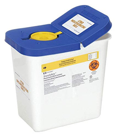 Sharps Container, 2 Gal, Hinged Lid, PK5
