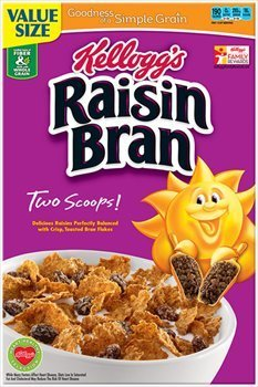 Kellogg's, Raisin Bran Cereal, 23.5oz Box (Pack of 4)