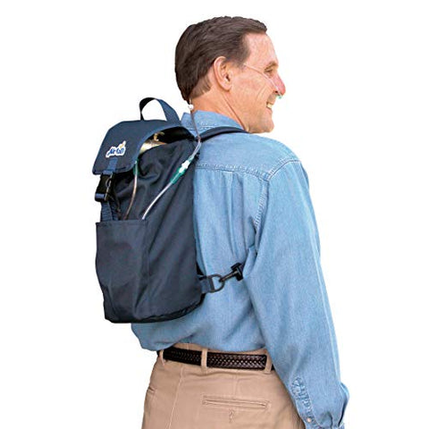 Roscoe Medical 24N Oxygen Cylinder Fanny Pack/Shoulder Bag for M6, M9/C Oxygen Cylinders, Navy Blue