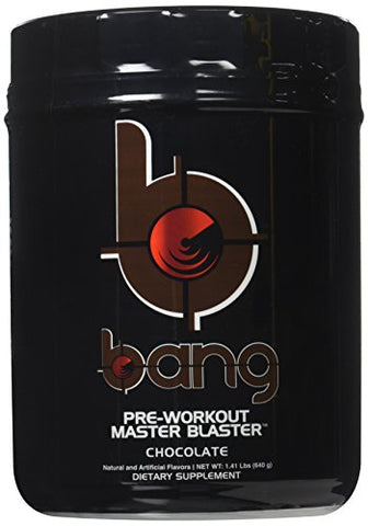 VPX Bang Pre Workout Master Blaster, Chocolate, 20 Servings, 640 Gram