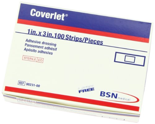 "Coverlet Strip Dressings 1"" x 3"" 100 per Box"