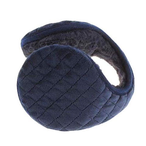 Creative Foldable Earmuffs Plush Cute Ear Warmers-Blue